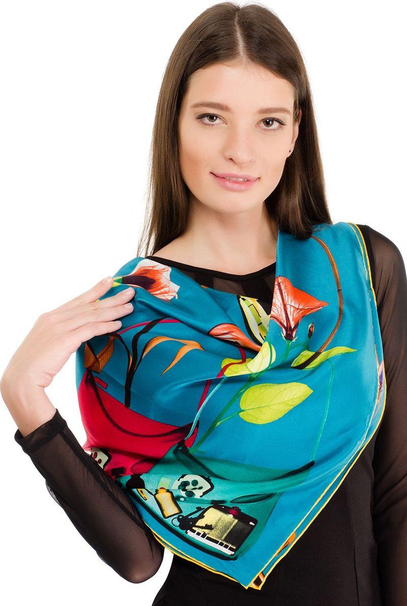 Платок женский Laccom, цвет: бирюзовый. 1105. Размер 90 см х 90 см1105HПлаток от Laccom, выполненный из высококачественного материала, приятный на ощупь и подойдет к любому стилю.