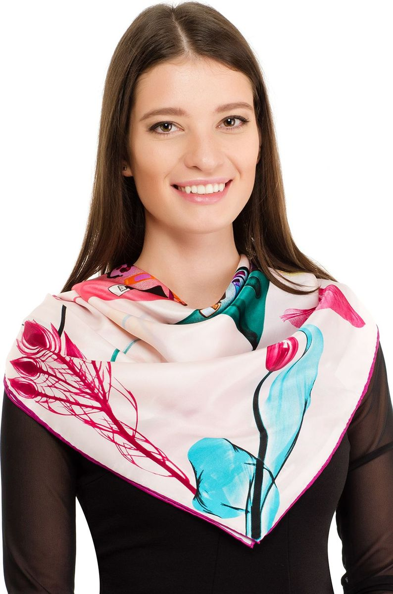 Платок женский Laccom, цвет: розовый. 1105. Размер 90 см х 90 см1105SПлаток от Laccom, выполненный из высококачественного материала, приятный на ощупь и подойдет к любому стилю.