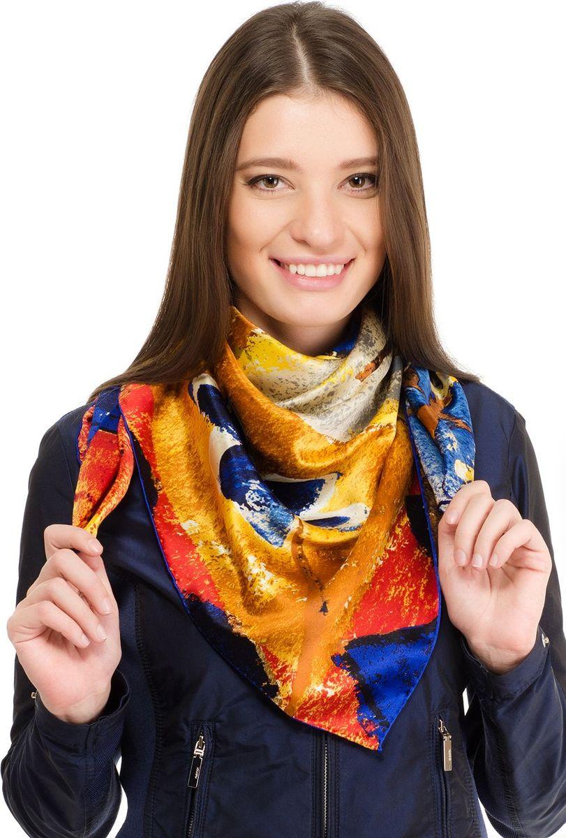 Платок женский Laccom, цвет: синий, желтый. 1106. Размер 90 см х 90 см1106GПлаток от Laccom, выполненный из высококачественного материала, приятный на ощупь и подойдет к любому стилю.