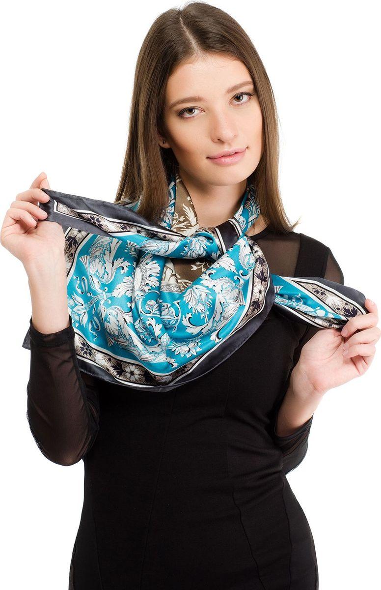 Платок женский Laccom, цвет: голубой, серый. 1111. Размер 90 см х 90 см1111IПлаток от Laccom, выполненный из высококачественного материала, приятный на ощупь и подойдет к любому стилю. Платок оформлен стильным узором.