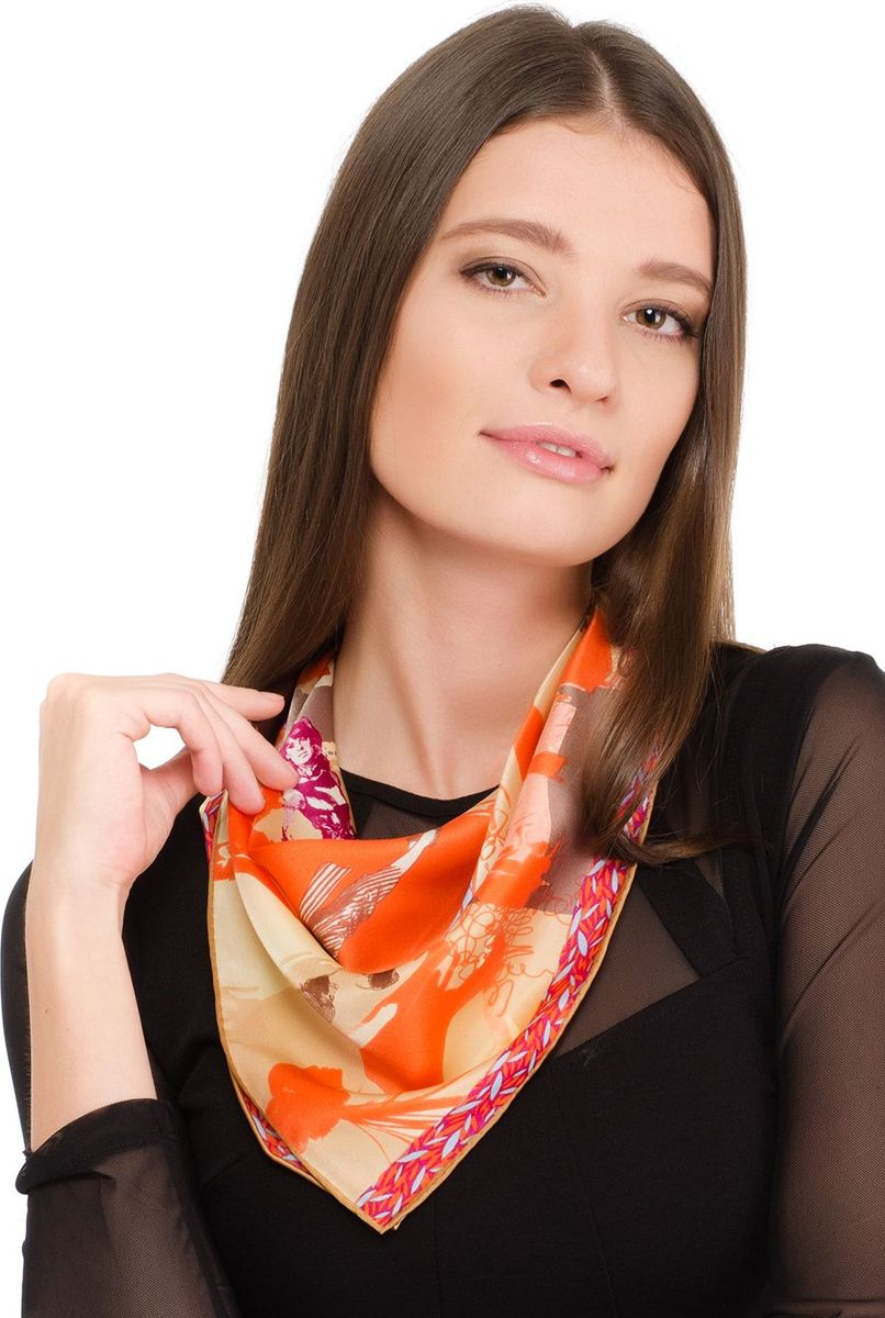 Платок женский Laccom, цвет: оранжевый. 2101. Размер 55 см х 55 см2101VПлаток от Laccom, выполненный из высококачественного материала, приятный на ощупь и подойдет к любому стилю.
