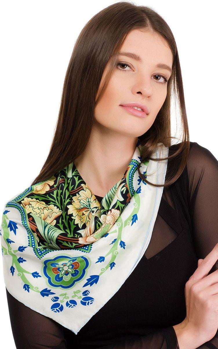 Платок женский Laccom, цвет: белый, зеленый. 2107. Размер 70 см х 70 см2107EПлаток от Laccom, выполненный из высококачественного материала, приятный на ощупь и подойдет к любому стилю. Платок оформлен очаровательным принтом.