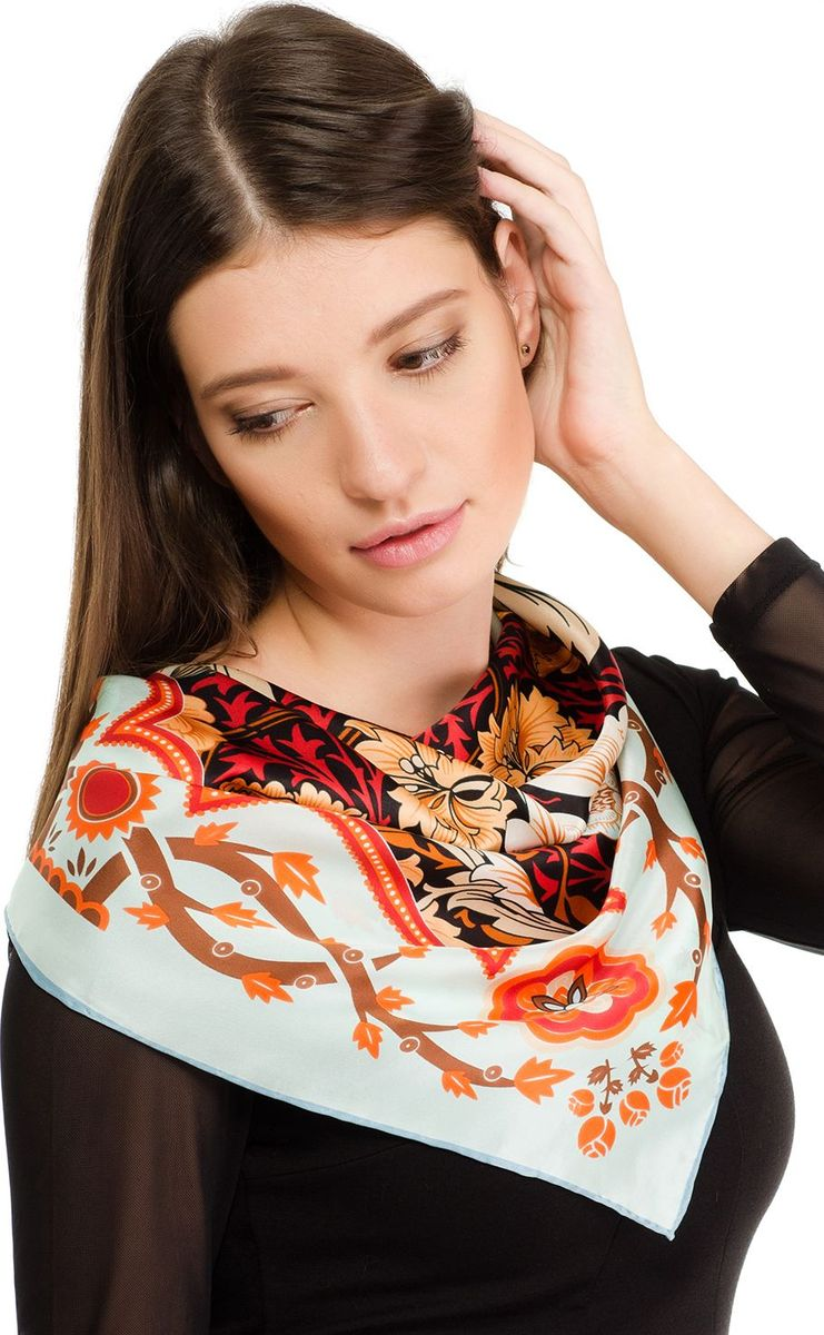 Платок женский Laccom, цвет:оранжевый. 2107. Размер 70 см х 70 см2107QПлаток от Laccom, выполненный из высококачественного материала, приятный на ощупь и подойдет к любому стилю. Платок оформлен очаровательным принтом.