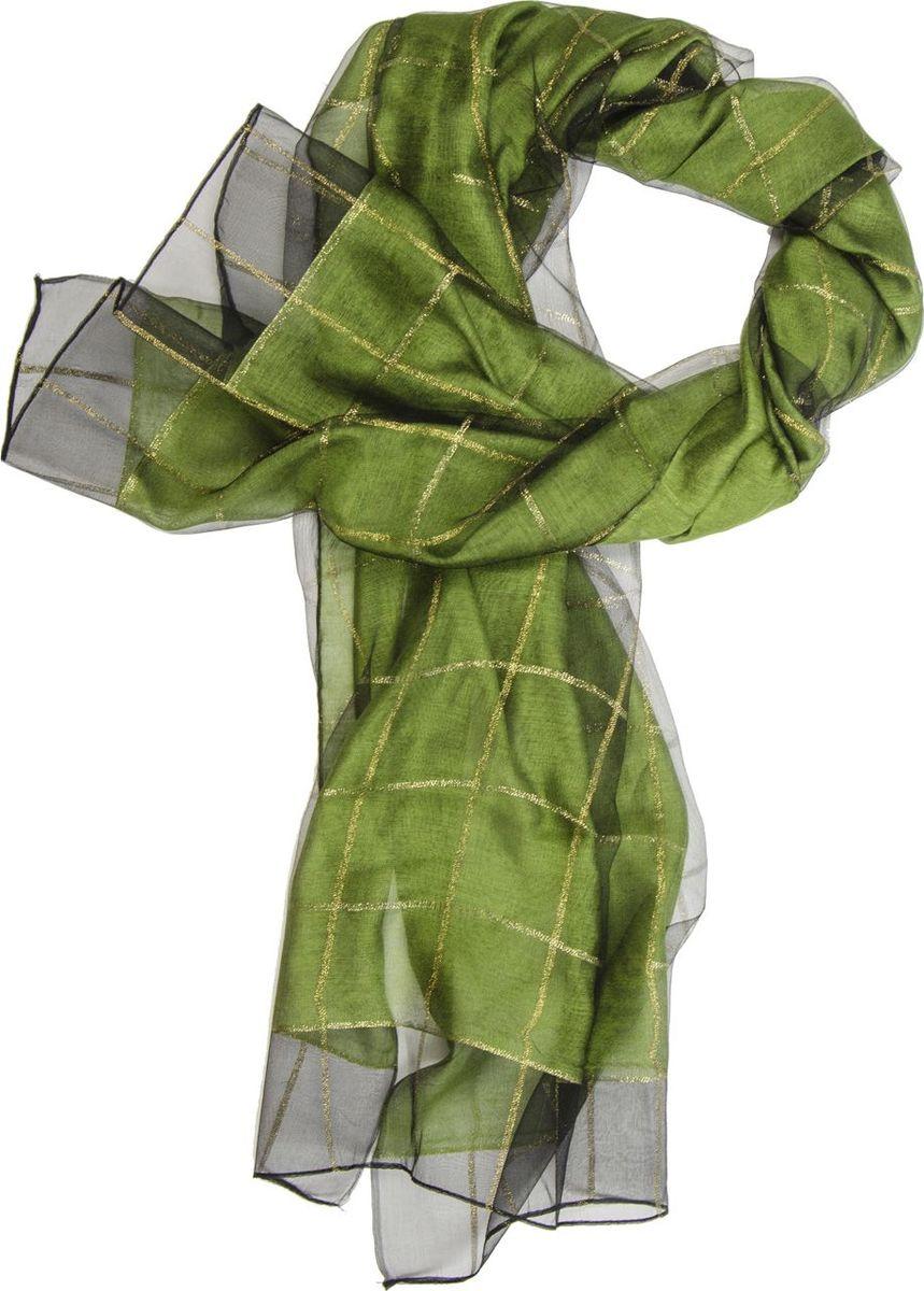 Палантин Laccom, цвет: зеленый. 3101. Размер: 190 см х 70 см3101EПалантин от Laccom, выполненный из высококачественного материала, приятный на ощупь и подойдет к любому стилю. Палантин декорирован принтом в крупную клетку.