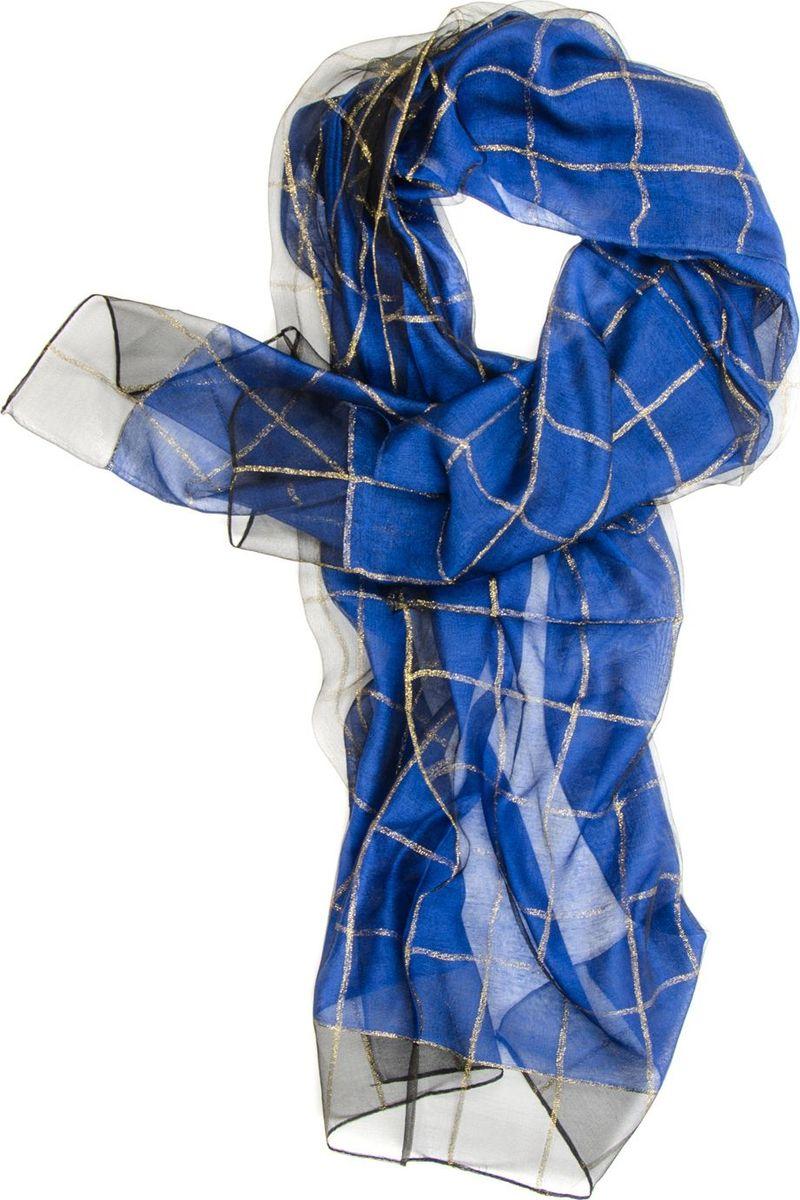 Палантин Laccom, цвет: синий. 3101. Размер: 190 см х 70 см3101GПалантин от Laccom, выполненный из высококачественного материала, приятный на ощупь и подойдет к любому стилю. Палантин декорирован принтом в крупную клетку.