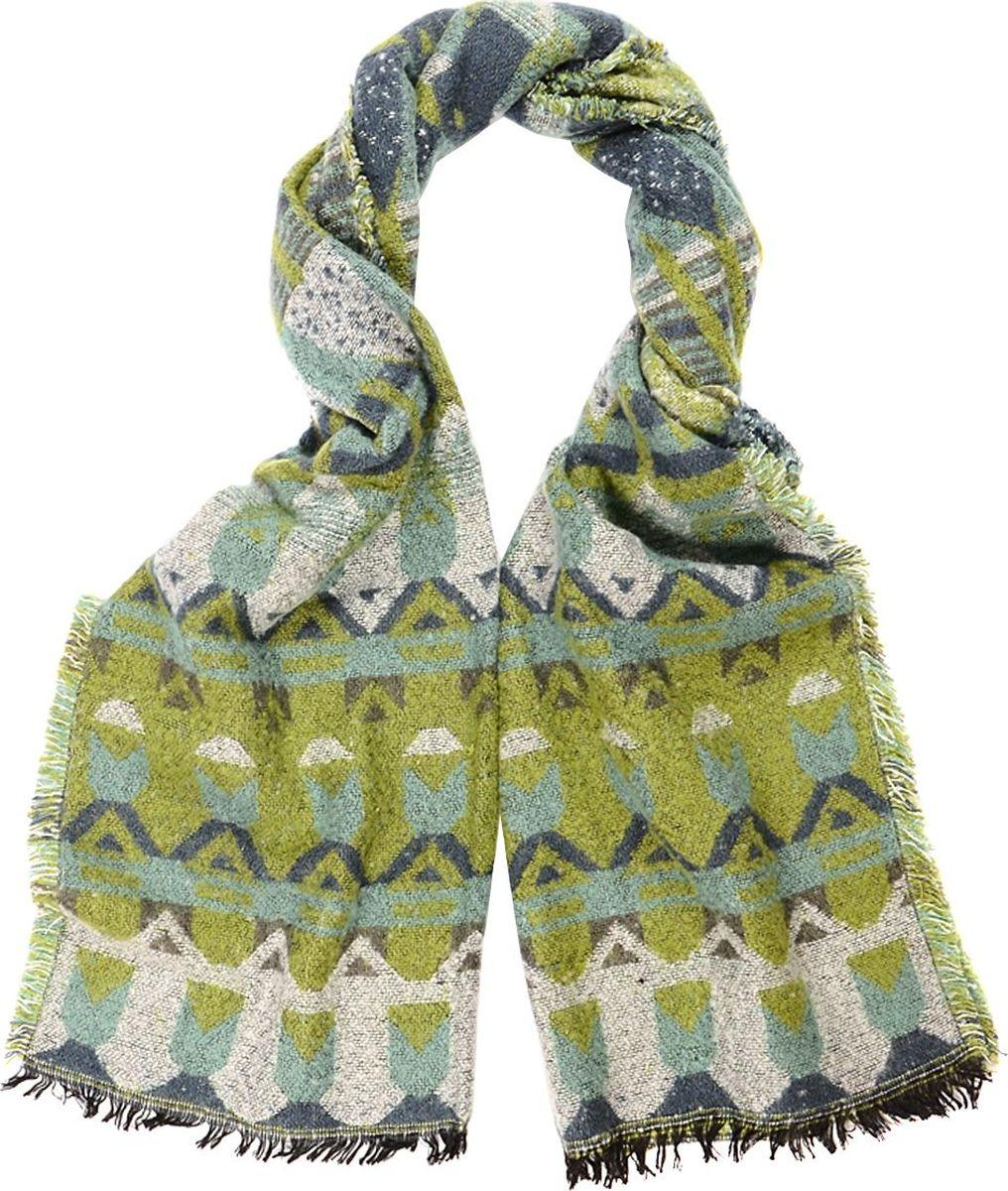 Шарф женский Laccom, цвет: зеленый. 3307. Размер 180 см х 60 см3307EШарф от Laccom, выполненный из высококачественного материала, приятный на ощупь и подойдет к любому стилю. Шарф оформлен стильным принтом.
