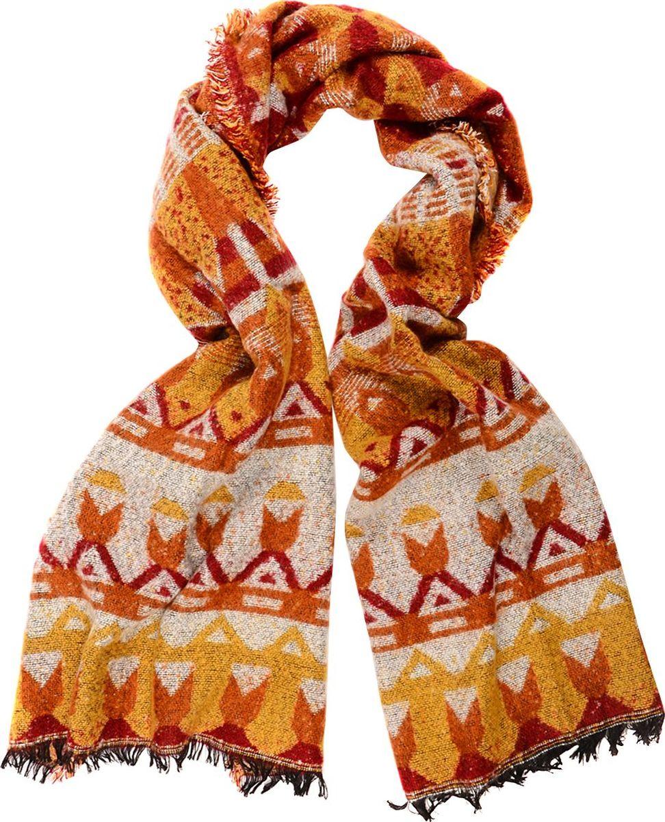 Шарф женский Laccom, цвет: оранжевый. 3307. Размер 180 см х 60 см3307VШарф от Laccom, выполненный из высококачественного материала, приятный на ощупь и подойдет к любому стилю. Шарф оформлен стильным принтом.