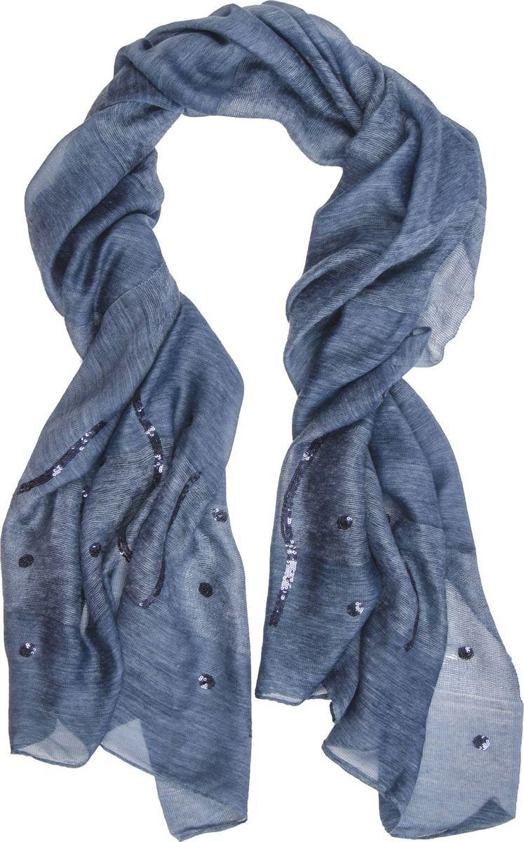 Палантин Laccom, цвет: синий. 3312. Размер 190 см х 80 см3312GПалантин от Laccom, выполненный из высококачественного материала, приятный на ощупь и подойдет к любому стилю. Палантин декорирован пайетками.