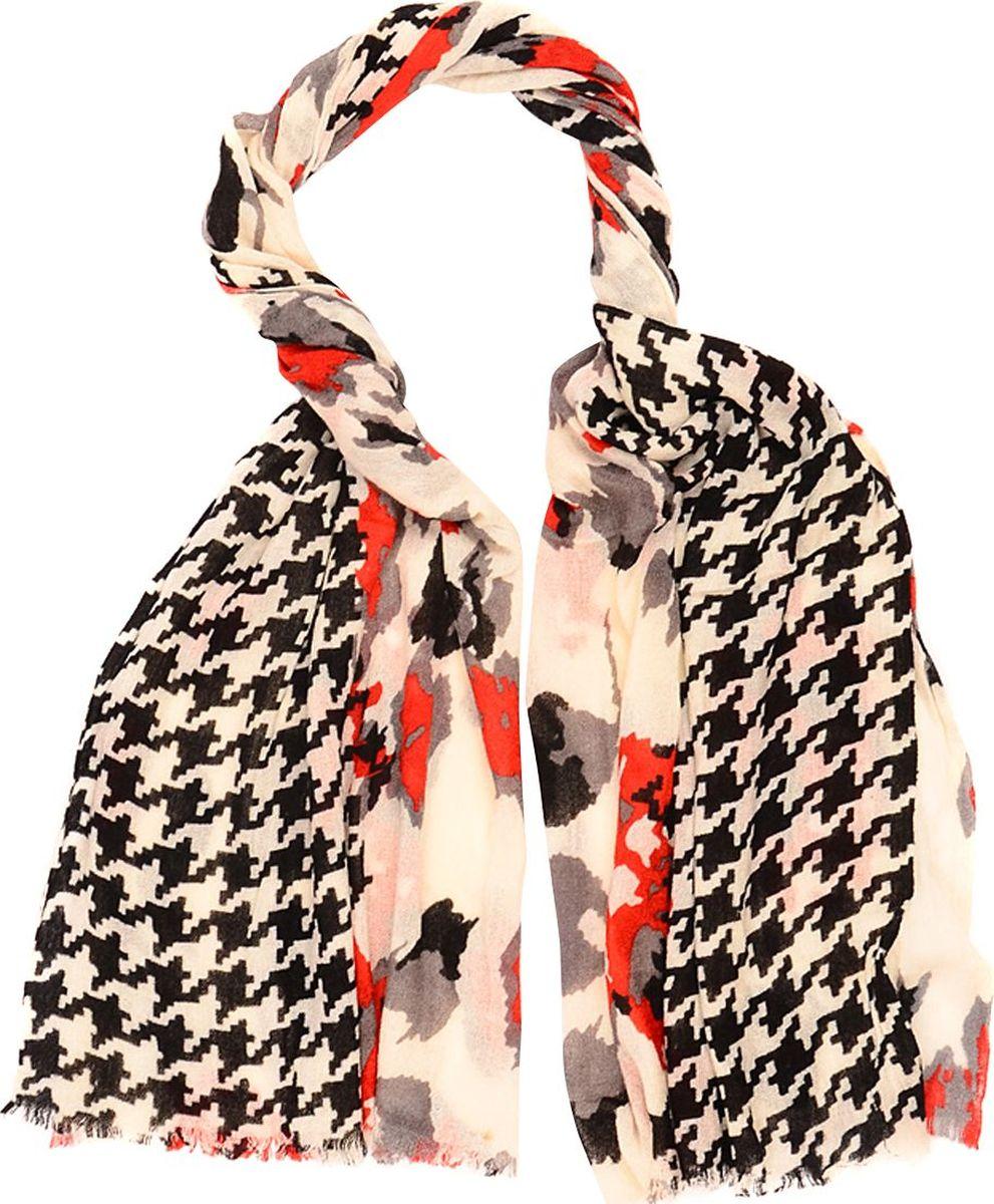 Палантин Laccom, цвет: красный, черный, молочный. 3315. Размер 190 см х 90 см3315СПалантин от Laccom, выполненный из высококачественного материала, приятный на ощупь и подойдет к любому стилю.