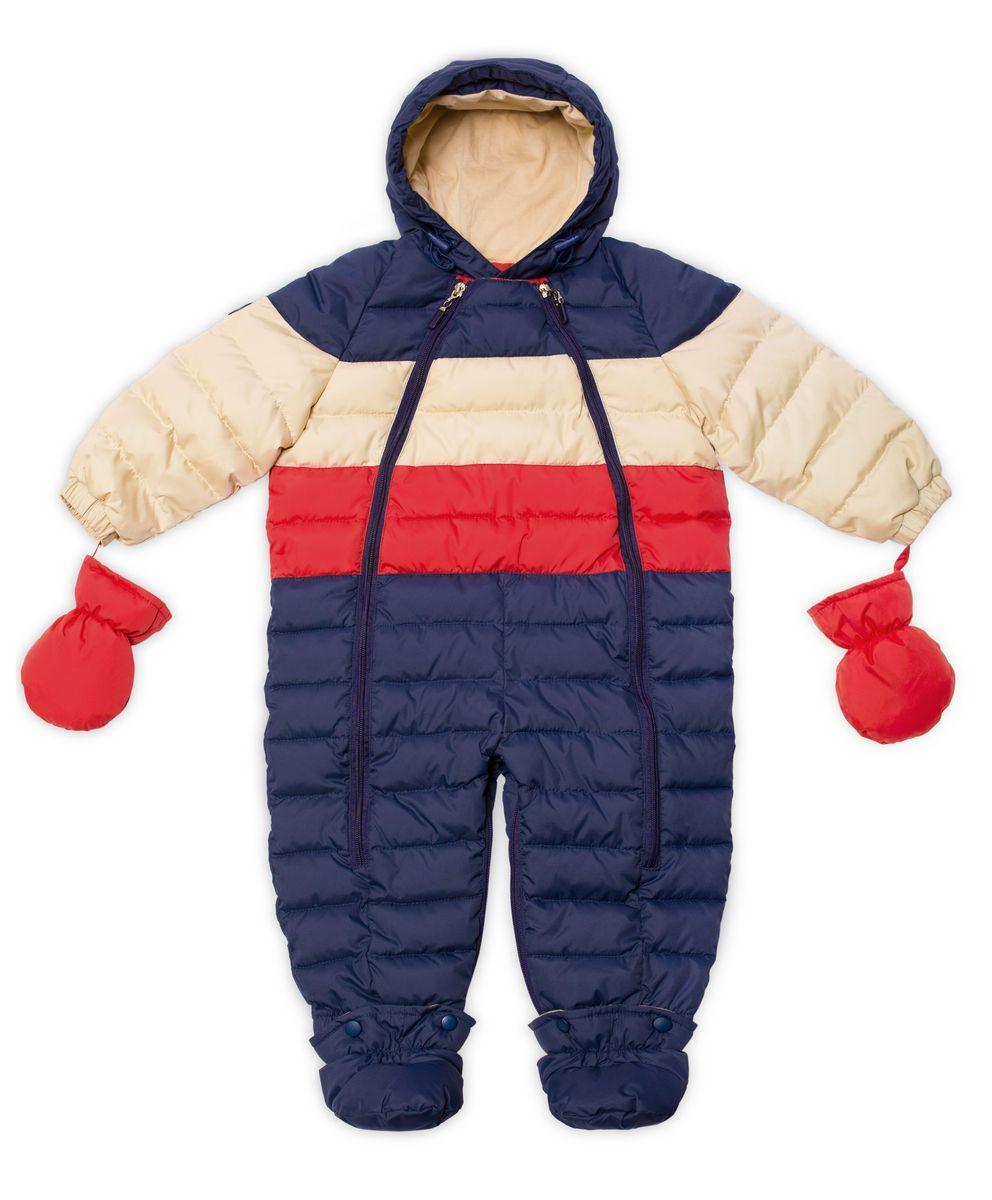 Комбинезон-трансформер для мальчика Ёмаё, цвет: синий, молочный, красный. 22-103. Размер 8022-103Практичный комбинезон-трансформер Ёмаё выполнен из курточной ткани и утеплен синтепоном. Модель со съемными варежками и пинетками. Несъемный капюшон оснащен вставкой. Спереди предусмотрена двойная застежка-молния для удобства переодевания малыша. Пинетки крепятся на застежки-кнопки. Комбинезон рассчитан на температуру до -15°С. Наполнитель: синтепух, 220 г/м3;