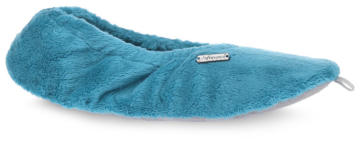 Тапки женские De Fonseca, цвет: бирюзовый. BASICDI61. Размер 38BASICDI61Женские тапки De Fonseca полностью выполнены из мягкого ворсистого текстиля и оформлены брендовой металлической нашивкой. На ноге модель фиксируется с помощью эластичной резинки.