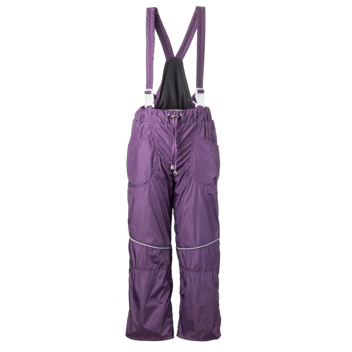 Брюки утепленные детские M&D, цвет: темно-пурпурный. БС0012Ф-12. Размер 122, 7 летБС0012Ф-12