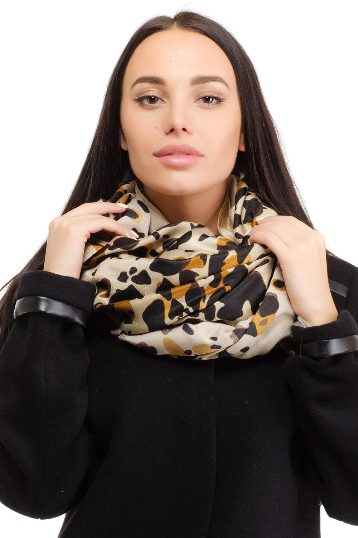 Палантин женский Moltini, цвет: темно-бежевый, черный. 10T-1607. Размер 110 см х 190 см10T-1607Женский палантин Moltini изготовлен из натуральной вискозы. Он оформлен контрастным принтом в виде пятен леопарда и дополнен тонкой бахромой по краю.