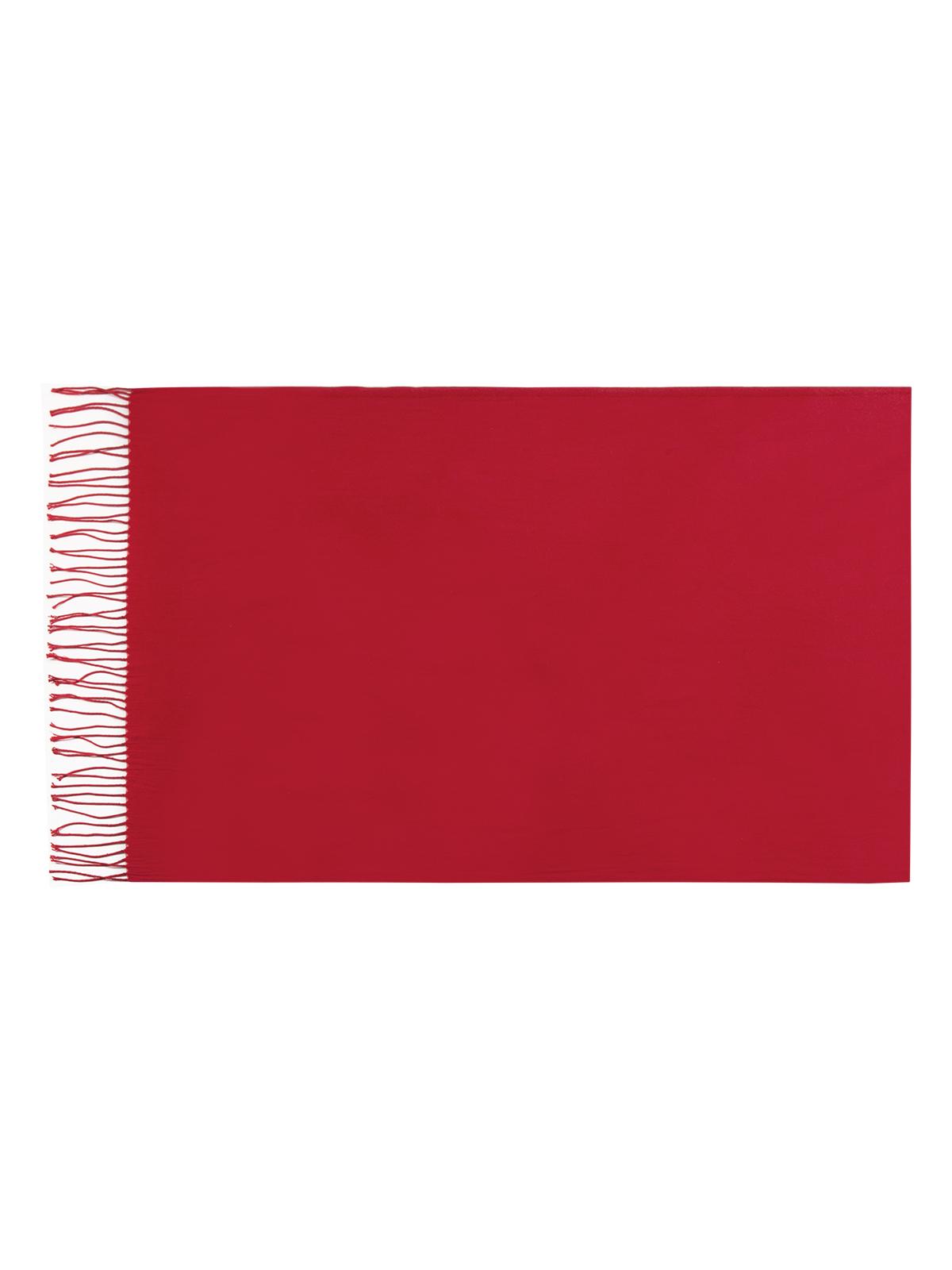 Палантин Eleganzza, цвет: красный. SZ23-0629. Размер 60 см х 180 смSZ23-0629Теплый палантин Eleganzza, изготовленный из хлопка с добавлением шерсти, мягкий и приятный на ощупь.Изделие выполнено в однотонном лаконичном цвете. По краям модель оформлена бахромой.