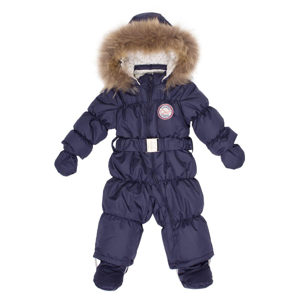 Комбинезон для мальчика Lucky Child, цвет: синий. В1-3. Размер 74В1-3Этой зимой вашему малышу предстоит впервые увидеть снег? Подберите для этого важного знакомства удобный и тёплый комбинезон Lucky Child! Он выполнен из курточной ткани с влагостойкой пропиткой, а значит, не промокнет, даже если Ваша кроха, знакомясь со снегом, решит нырнуть в сугроб. Наполнитель – лёгкий и тёплый Isosoft, который позволит ребёнку не мёрзнуть при температуре до -30° и при этом вести активную деятельность во время прогулки. Трикотажная подкладка (кулирка) обладает воздухопроницаемыми и водоотводными свойствами, что очень важно, если малыш вспотеет. Капюшон оторочен натуральным мехом енота. Ножки и ручки малыша утеплят отстёгивающиеся варежки и сапожки.
