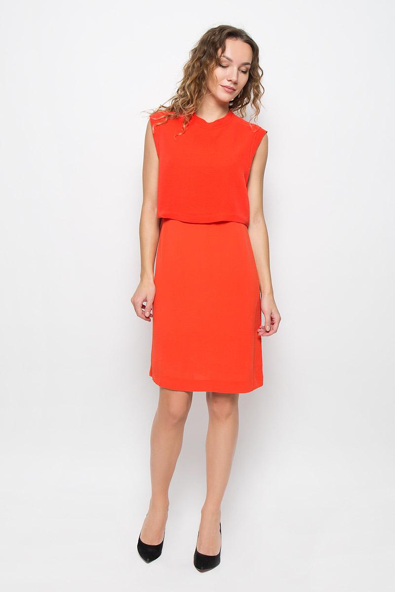 Платье Mexx, цвет: оранжевый. MX3024400_WM_DRS_007. Размер L (48/50)MX3024400_WM_DRS_007_124Элегантное платье Mexx выполнено из высококачественного полиэстера. Такое платье обеспечит вам комфорт и удобство при носке и непременно вызовет восхищение у окружающих.Модель средней длины без рукавов имеет круглый вырез горловины и застегивается на застежку-молнию на спинке. Оно выгодно подчеркнет все достоинства вашей фигуры. Изделие имеет непрозрачный подъюбник, дополнено несъемной вставкой-накидкой на лифе. Изысканное платье-миди создаст обворожительный и неповторимый образ.Это модное и комфортное платье станет превосходным дополнением к вашему гардеробу, оно подарит вам удобство и поможет подчеркнуть ваш вкус и неповторимый стиль.
