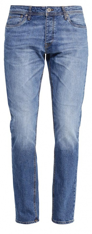 Джинсы мужские Jack & Jones, цвет: синий. 12110050. Размер 32-32 (46/48-32)12110050_Blue DenimМужские джинсы Jack & Jones выполнены из высококачественного эластичного хлопка. Джинсы-слим стандартной посадки застегиваются на пуговицу в поясе и ширинку на пуговицах, дополнены шлевками для ремня. Джинсы имеют классический пятикарманный крой: спереди модель дополнена двумя втачными карманами и одним маленьким накладным кармашком, а сзади - двумя накладными карманами. Джинсы украшены декоративными потертостями.