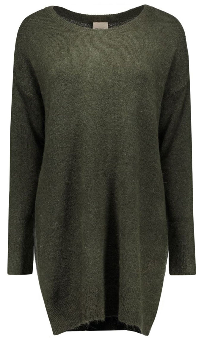 Джемпер женский Vero Moda, цвет: темно-зеленый. 10159163. Размер L (46) пуловер женский vero moda soon цвет серый 10162346 размер l 46