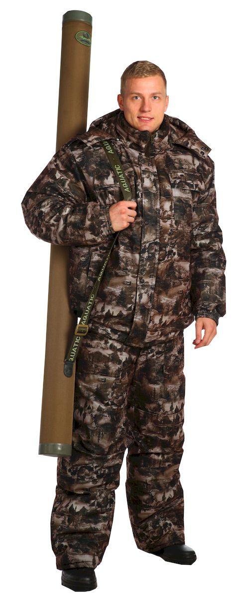Костюм рыболовный мужской Skanson Кедр, цвет: серый. 6186. Размер 52/54, 182-188 см6186Утепленный костюм с укороченной курткой на поясе с резинкой и полукомбинезоном. - воротник-стойка с пристегивающимся на молнию капюшоном, нижний воротник из флиса- на куртке имеются накладные и утепленные прорезные карманы; - рукава на манжетах с резинкой;- низ куртки на поясе с резинкой; - утепленный полукомбинезон с объемными карманами, с двухзамковой молнией, с усиленными наколенниками;- по низу подкладки расположены защитные юбочки с резиновой тесьмой со спандексом;- низ брюк со шлицами, закрытыми клапаном на липучках; - на поясе полукомбинезона удобные широкие шлевки под ремень; - боковые швы полукомбинезона с трикотажными вставками на резинках;- количество карманов - 7.ткань верха: аловаводонепроницаемость: 3000 ммпаропроницаемость: 1000 г/м2/24 часаутеплитель куртка: синтепон 400 гр/м2утеплитель п/к: 200 гр/м2подкладка: таффета, Cosmo-HeatУтепленный костюм выдерживает экстремально низкие температуры: -35