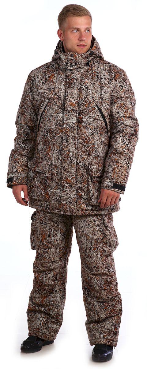 Костюм рыболовный мужской Skanson Велес, цвет: зеленый, желтый. 6910. Размер 56/58, 182-188 см6910Зимний костюм. - капюшон с регулировкой лицевой части по высоте резиновым шнуром; - центральная застежка на двухзамковую фронтальную молнию, закрытую ветрозащитной планкой на кнопках;- по линии талии куртки кулиса с регулировкой по ширине резиновым шнуром; - по линии талии полукомбинезона предусмотрена регулировка объема резиновым шнуром с фиксаторами;- низ брюк с регулировкой по ширине резиновым шнуром; - количество карманов - 6