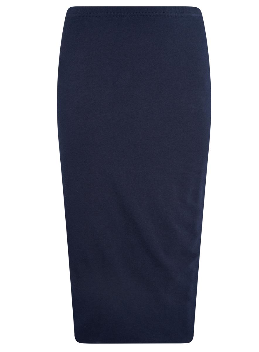 Юбка oodji Ultra, цвет: темно-синий. 14101050/33595/7900N. Размер XXS (40)14101050/33595/7900NЭффектная юбка oodji выполнена из натурального хлопка, она обеспечит вам комфорт и удобство при носке.Юбка-карандаш двойная оформлена в поясе эластичной резинкой. Модель выполнена в лаконичном однотонном стиле.