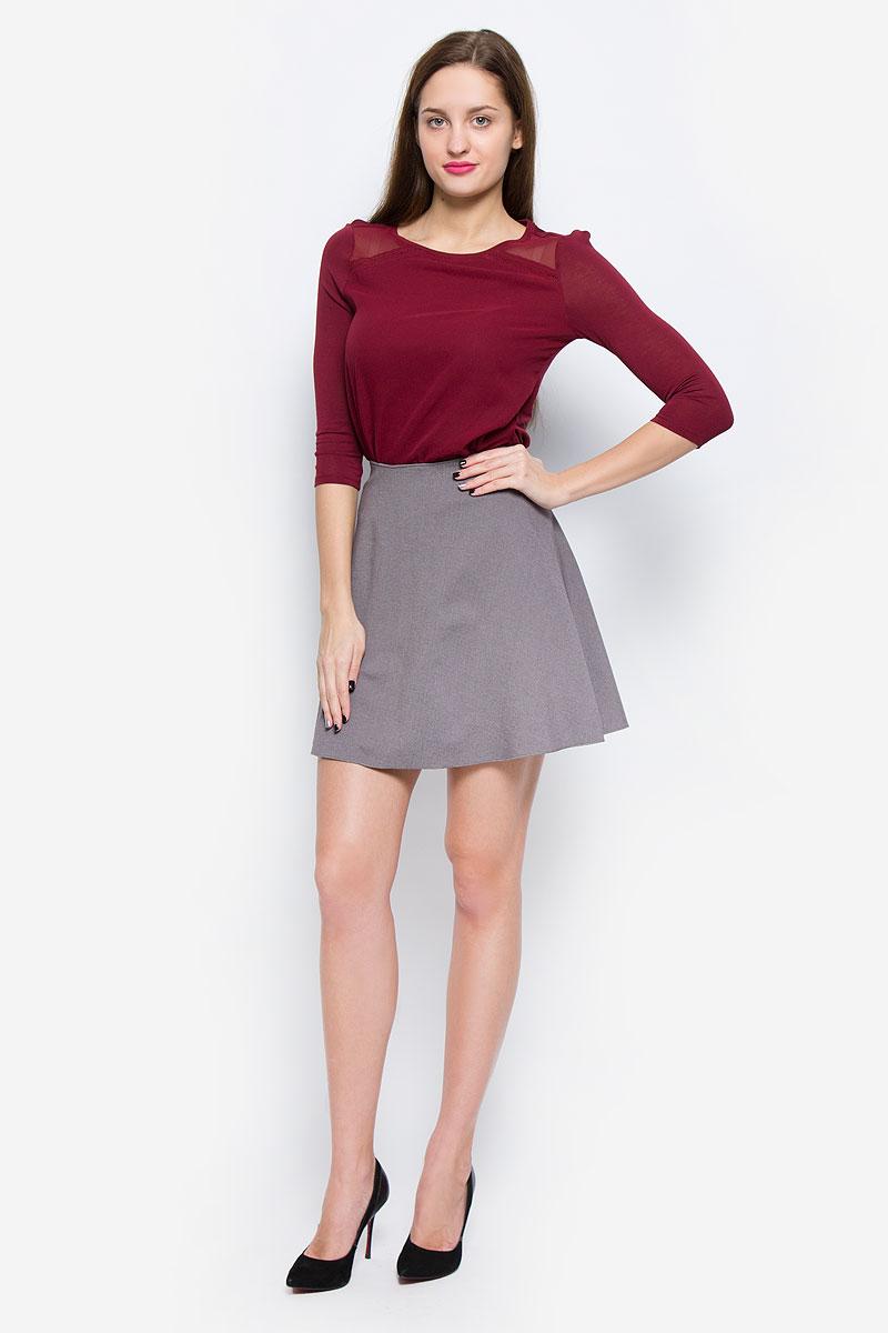 Юбка Tom Tailor, цвет: серый. 5513361.00.75_2503. Размер 38 (44)5513361.00.75_2503Модная юбка Tom Tailor выполнена из вискозы с добавлением полиэстера и эластана. Юбка-миди имеет эластичную резинку на талии. Модель не имеет застежек.
