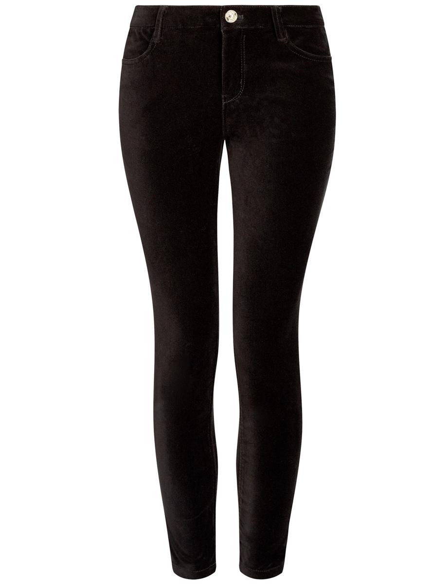Брюки женские oodji Ultra, цвет: черный. 11703094/33099/2900N. Размер 36 (42-170)11703094/33099/2900NСтильные женские брюки oodji выполнены из хлопка с небольшим добавлением полиуретана. Модель со средней посадкой застегивается на молнию и пуговицу в поясе, имеются шлевки для ремня. Спереди изделие дополнено двумя втачными карманами, сзади двумя накладными карманами.