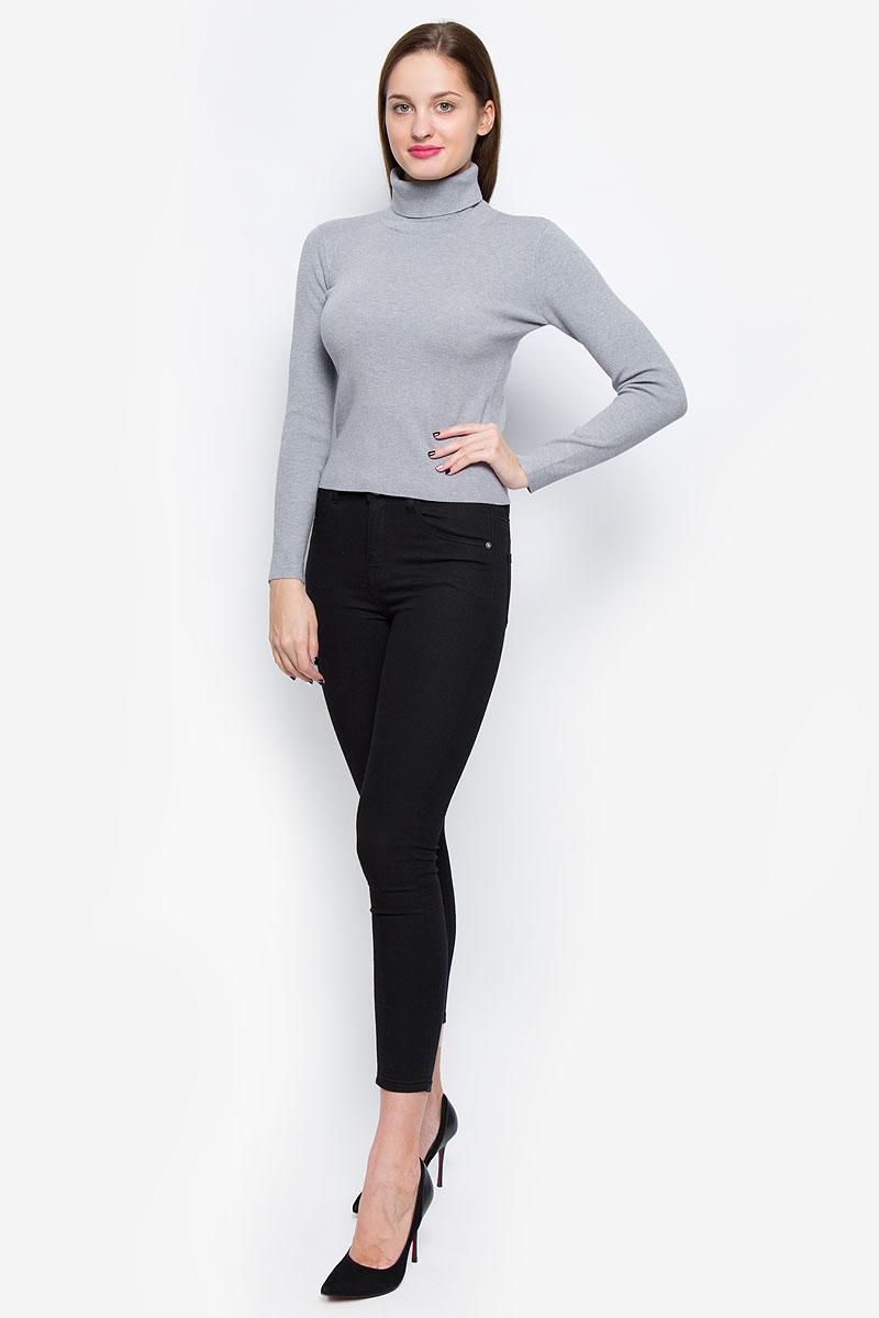 Водолазка женская Glamorous, цвет: серый. CK1968. Размер M (46)CK1968_GreyОригинальная женская водолазка Glamorous, изготовленная вискозы с добавлением нейлона, мягкая и приятная на ощупь, не сковывает движений и обеспечивает наибольший комфорт.Модель с воротником-гольф и длинными рукавами великолепно подойдет для создания образа в стиле Casual. Однотонная водолазка отлично сочетается с любыми нарядами.Эта водолазка послужит отличным дополнением к вашему гардеробу. В ней вы всегда будете чувствовать себя уютно и комфортно в прохладную погоду.