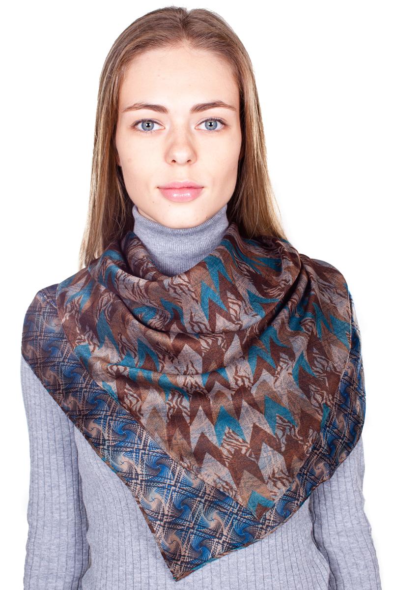 Палантин Sophie Ramage, цвет: коричневый, синий. YY-21682-20. Размер 80 см х 180 смYY-21682-20Стильный женский палантин Sophie Ramage станет великолепным завершением любого наряда.Палантин изготовлен из 100% вискозы и оформлен оригинальным принтом. Изящный палантин поможет вам создать изысканный женственный образ, а также согреет в непогоду.
