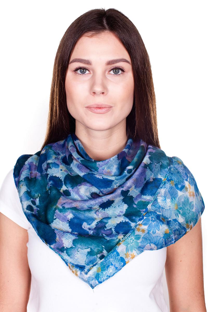 Палантин Sophie Ramage, цвет: синий, сиреневый. YY-21682-29. Размер 100 см х 180 смYY-21682-29Стильный женский палантин Sophie Ramage станет великолепным завершением любого наряда.Палантин изготовлен из 100% вискозы и оформлен нежным цветочным принтом. Изящный палантин поможет вам создать изысканный женственный образ, а также согреет в непогоду.