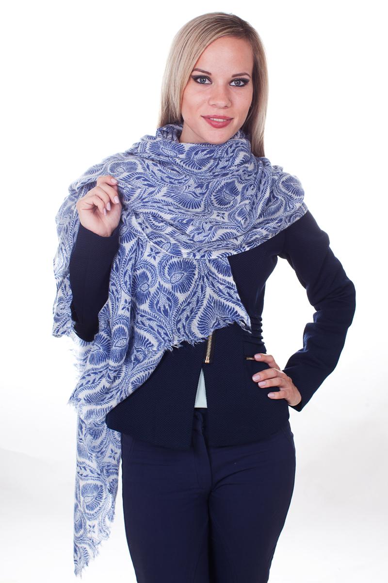 Палантин Sophie Ramage, цвет: синий, белый. YY-21667-22. Размер 30 см x 165 смYY-21667-22Стильный женский палантин Sophie Ramage станет великолепным завершением любого наряда.Палантин изготовлен из шерсти и акрила и оформлен оригинальным принтом. Изящный палантин поможет вам создать изысканный женственный образ, а также согреет в непогоду.