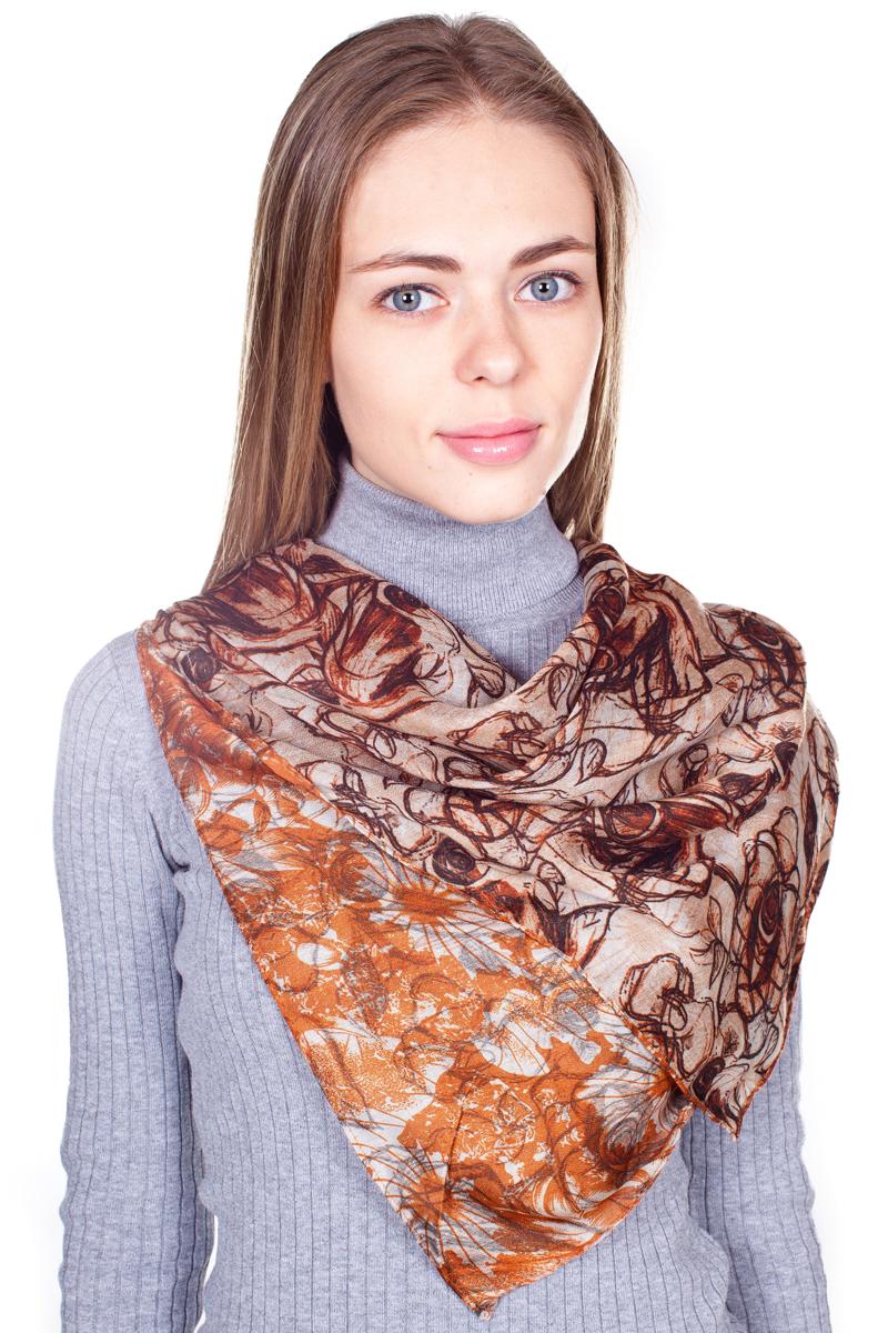 Палантин Sophie Ramage, цвет: коричневый, оранжевый. YY-21682-33. Размер 90 см х 180 смYY-21682-33Стильный женский палантин Sophie Ramage станет великолепным завершением любого наряда.Палантин изготовлен из 100% вискозы и оформлен нежным цветочным принтом. Изящный палантин поможет вам создать изысканный женственный образ, а также согреет в непогоду.