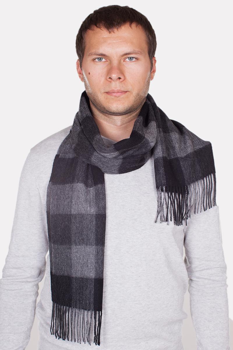 Шарф мужской Paccia, цвет: темно-серый, серый. TH-21513-13. Размер 80 см х 180 смTH-21513-13Стильный шарф Paccia согреет вас в прохладную погоду и станет отличным завершением вашего образа. Шарф изготовлен из натуральной шерсти и оформлен вязкой клетка. Материал мягкий и приятный на ощупь, хорошо драпируется. По краям модель дополнена кистями бахромы.Этот модный аксессуар гармонично дополнит любой наряд и подчеркнет ваш изысканный вкус.