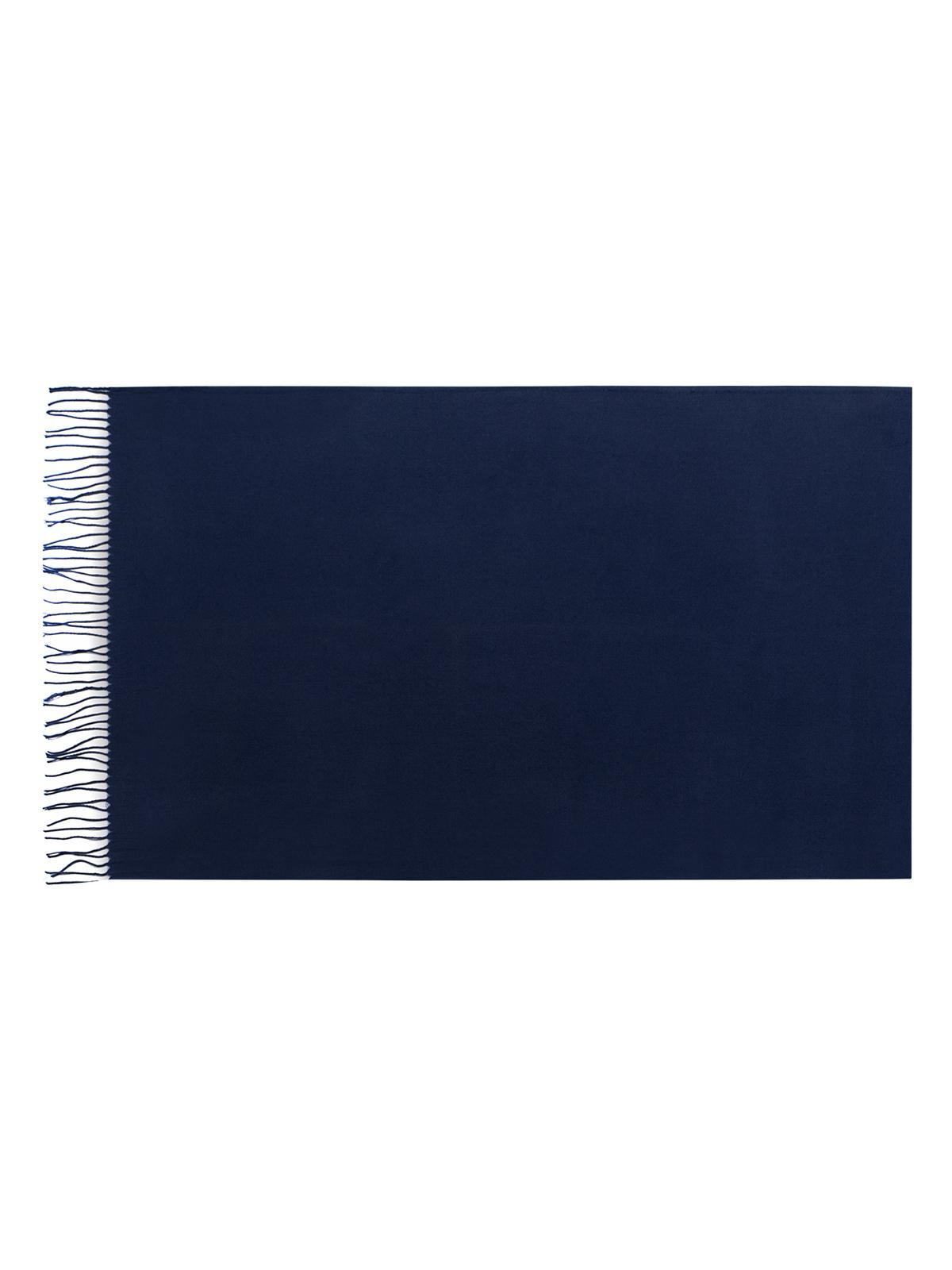 Палантин Eleganzza, цвет: темно-синий. SZ23-0629. Размер 60 см х 180 смSZ23-0629Теплый палантин Eleganzza, изготовленный из хлопка с добавлением шерсти, мягкий и приятный на ощупь.Изделие выполнено в однотонном лаконичном цвете. По краям модель оформлена бахромой.