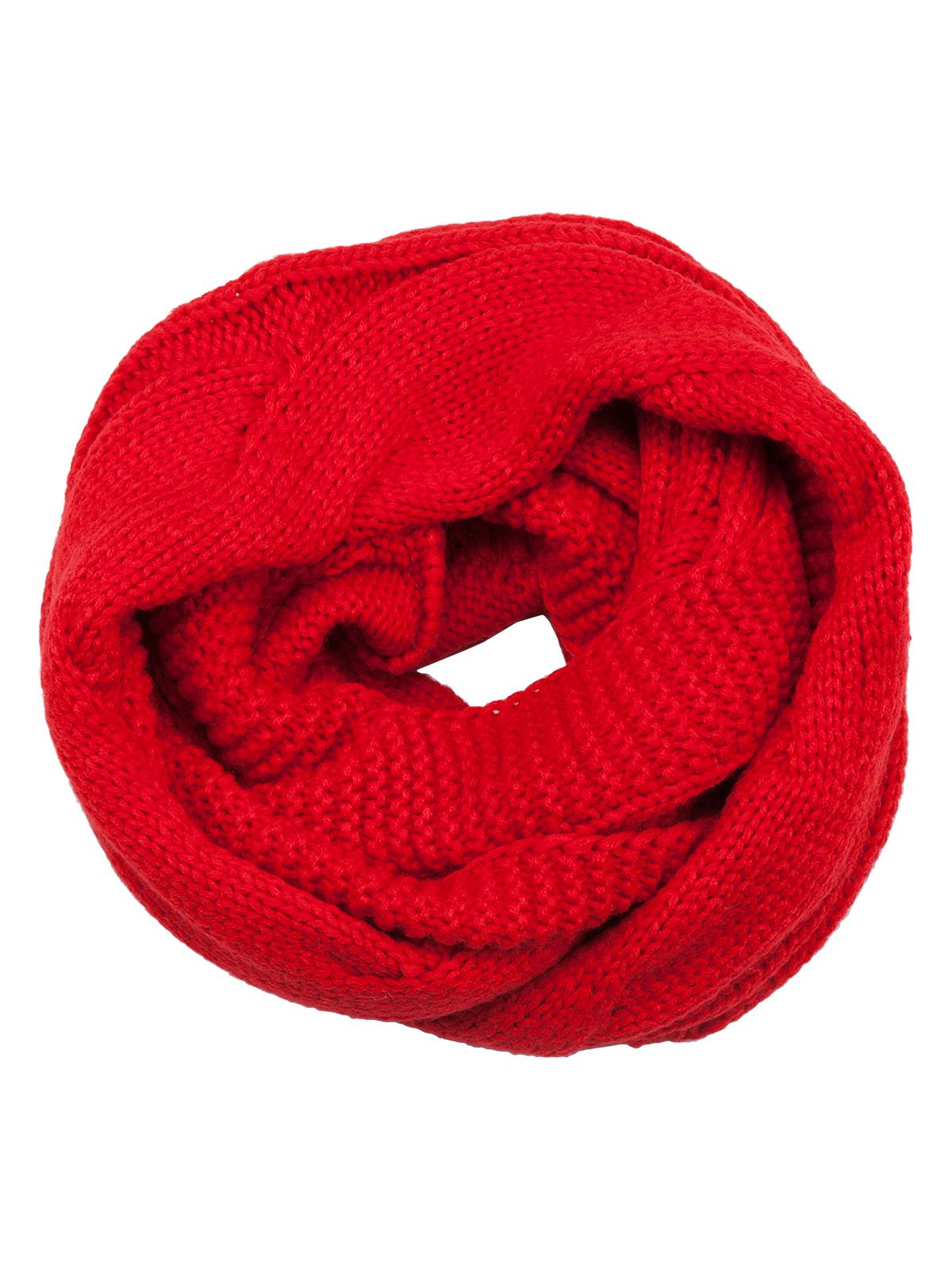 Снуд-хомут Eleganzza, цвет: красный. DB33-6405. Размер 30 см х 140 смDB33-6405Женский вязаный снуд-хомут Labbra выполнен из высококачественной вискозы с добавлением теплой шерсти.Модель оформлена крупной вязкой с узором.