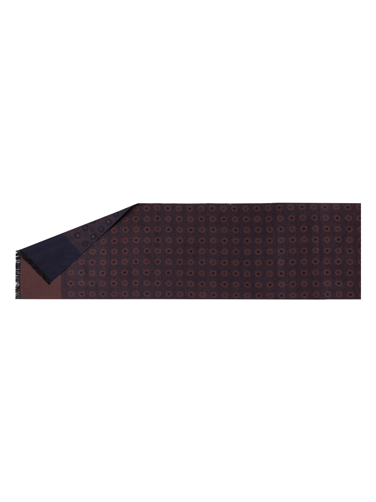 Шарф мужской Eleganzza, цвет: темно-коричневый. JG43-7610. Размер 32 см х 180 смJG43-7610Элегантный мужской шарф Eleganzza согреет вас в холодное время года, а также станет изысканным аксессуаром. Оригинальный и стильный шарф выполнен из сочетания высококачественных материалов шерстии шелка, оформлен контрастным принтом и украшен жгутиками бахромой по краям.