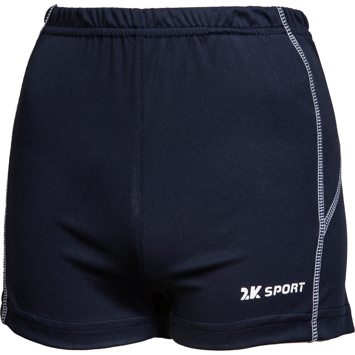 Шорты волейбольные женские 2K Sport Energy, цвет: темно-синий. 140043. Размер S (42/44)140043_navyОблегающие женские волейбольные шорты с контрастными полосами по бокам. Эластичная ткань не стесняет в движениях, но при этом обладает высокой износостойкостью и отлично сохраняет форму.