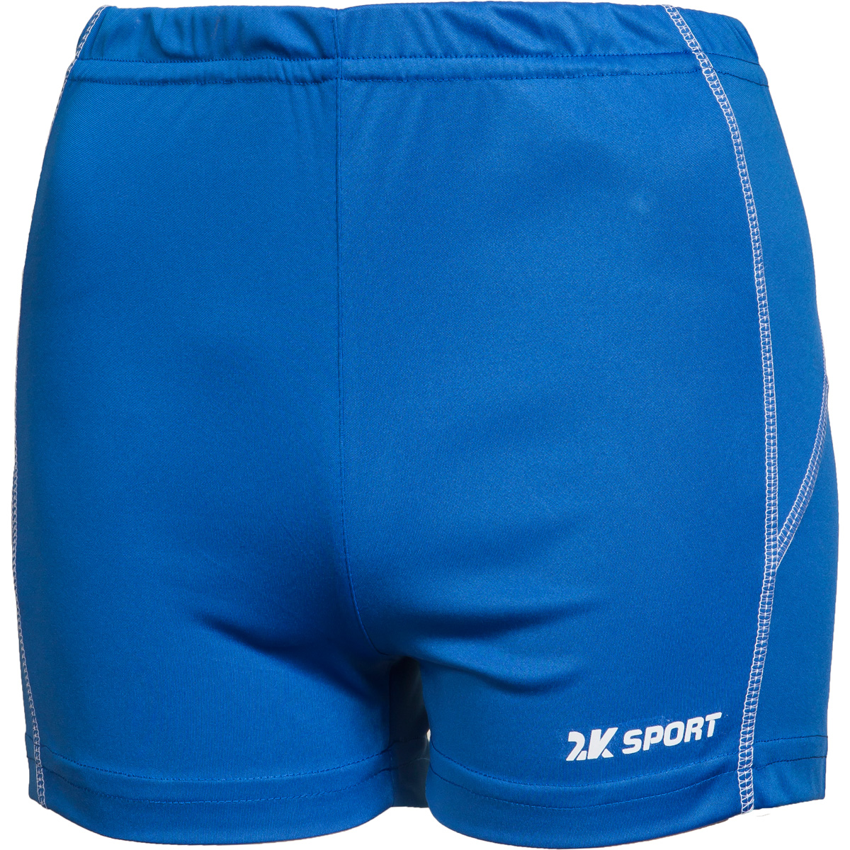 Шорты волейбольные женские 2K Sport Energy, цвет: синий. 140043. Размер XL (48/50)140043_royalОблегающие женские волейбольные шорты с контрастными полосами по бокам. Эластичная ткань не стесняет в движениях, но при этом обладает высокой износостойкостью и отлично сохраняет форму.