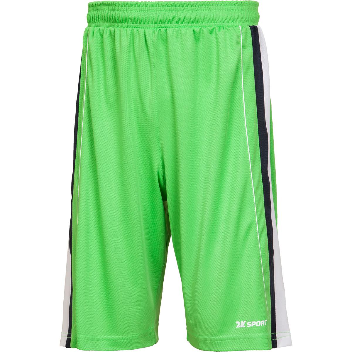 Шорты баскетбольные мужские 2K Sport Advance, цвет: светло-зеленый, темно-синий, белый. 130031. Размер XXXL (56) - Баскетбол