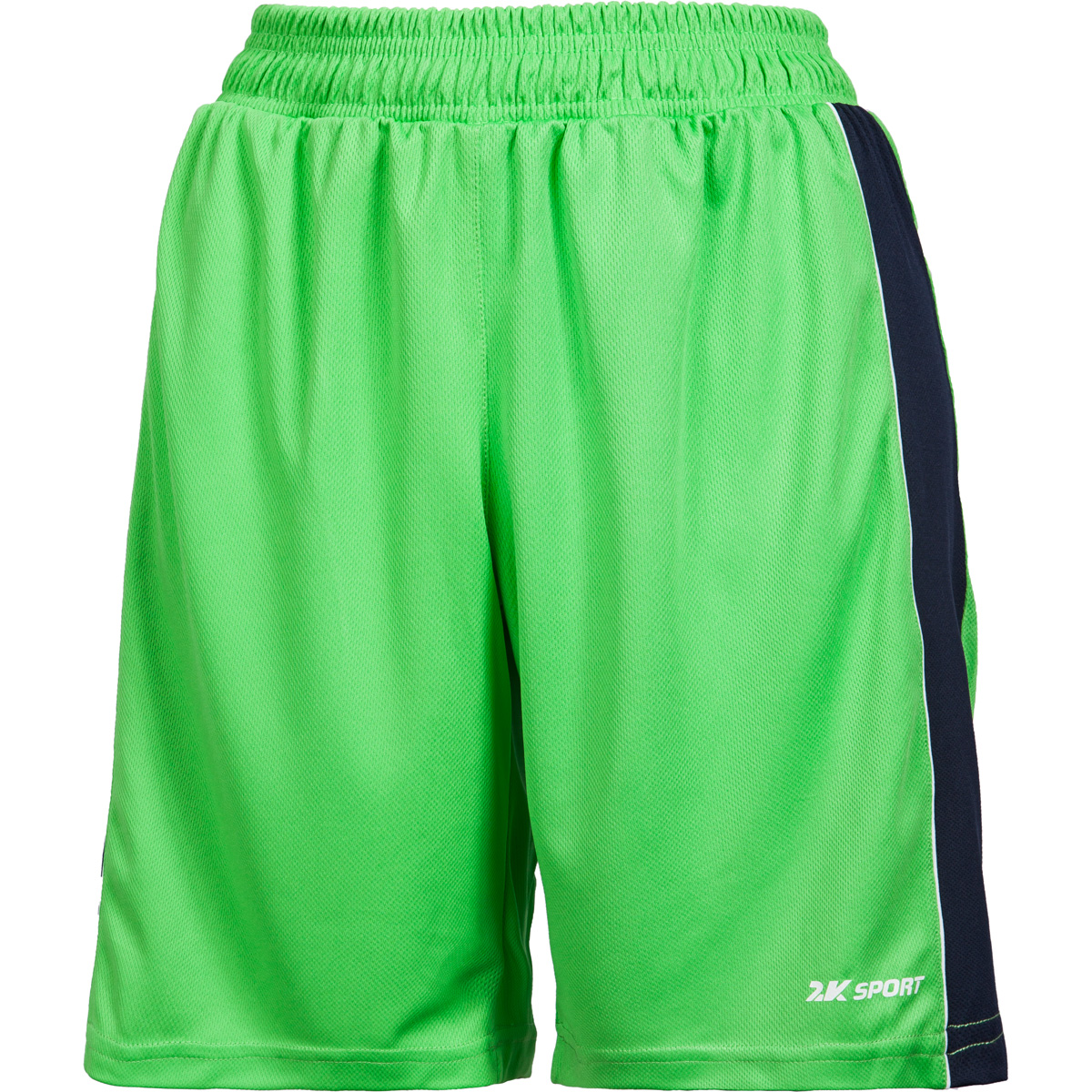 Шорты баскетбольные женские 2K Sport Advance, цвет: светло-зеленый, темно-синий, белый. 130033. Размер XL (48/50) - Баскетбол