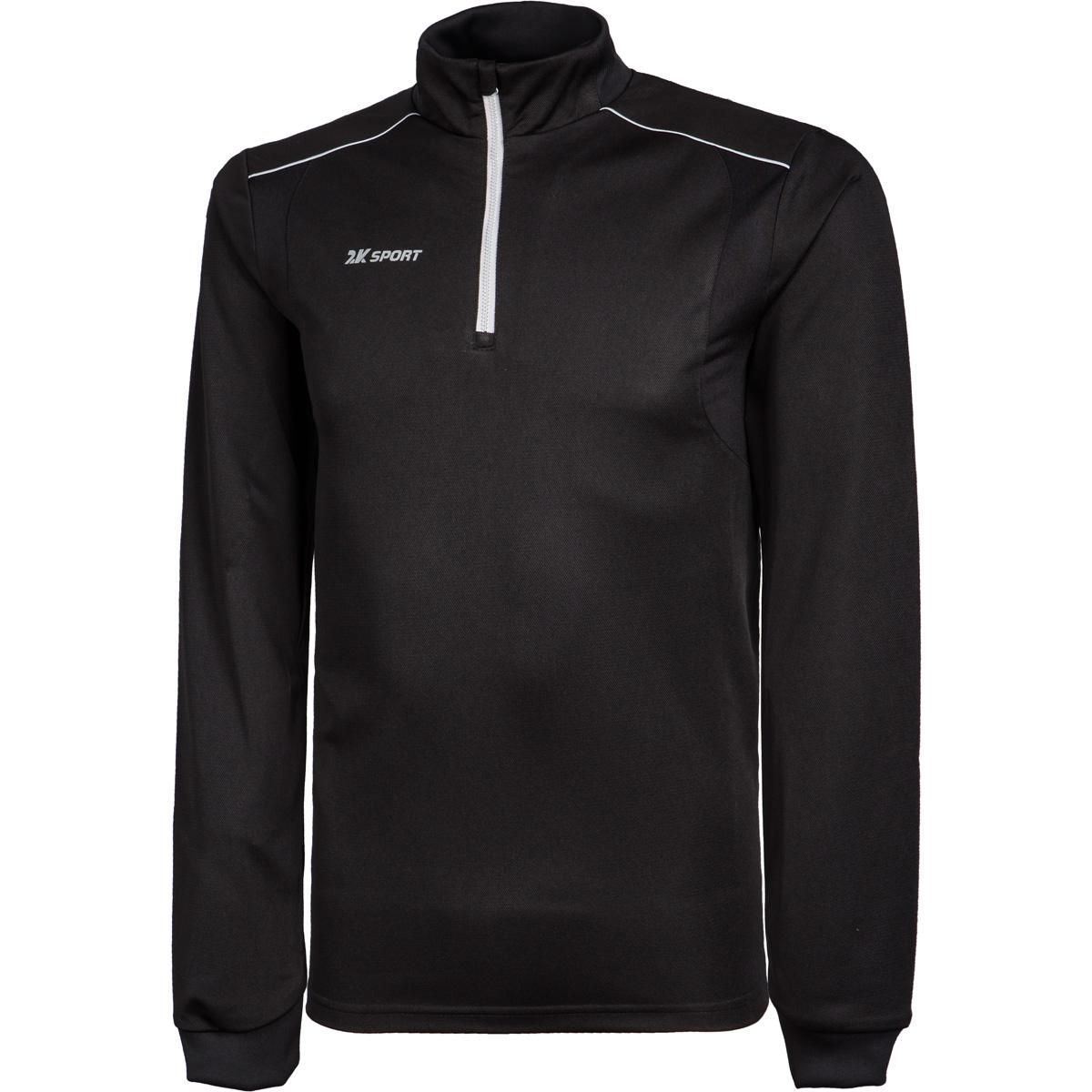 Тренировочный джемпер мужской 2K Sport Performance, цвет: черный. 121130. Размер XXS (42)121130_blackБазовый тренировочный джемпер на короткой молнии. Прилегающий силуэт. Фигурные эластичные вставки для максимальной свободы движений.