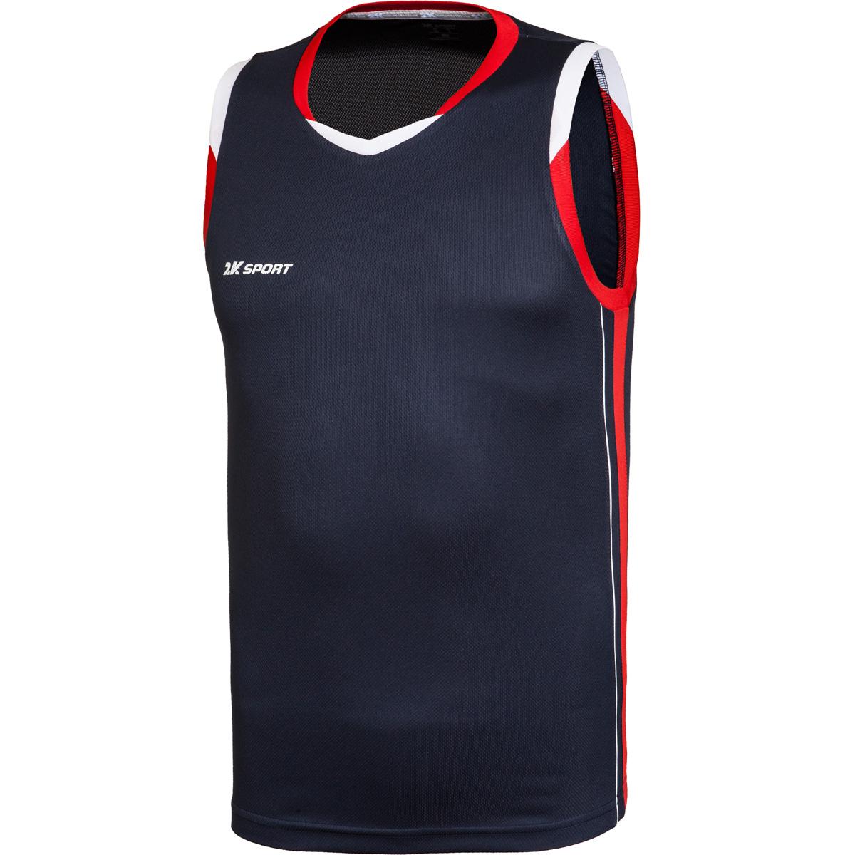 Майка баскетбольная мужская 2K Sport Advance, цвет: темно-синий, красный, белый. 130030. Размер XS (44) - Баскетбол