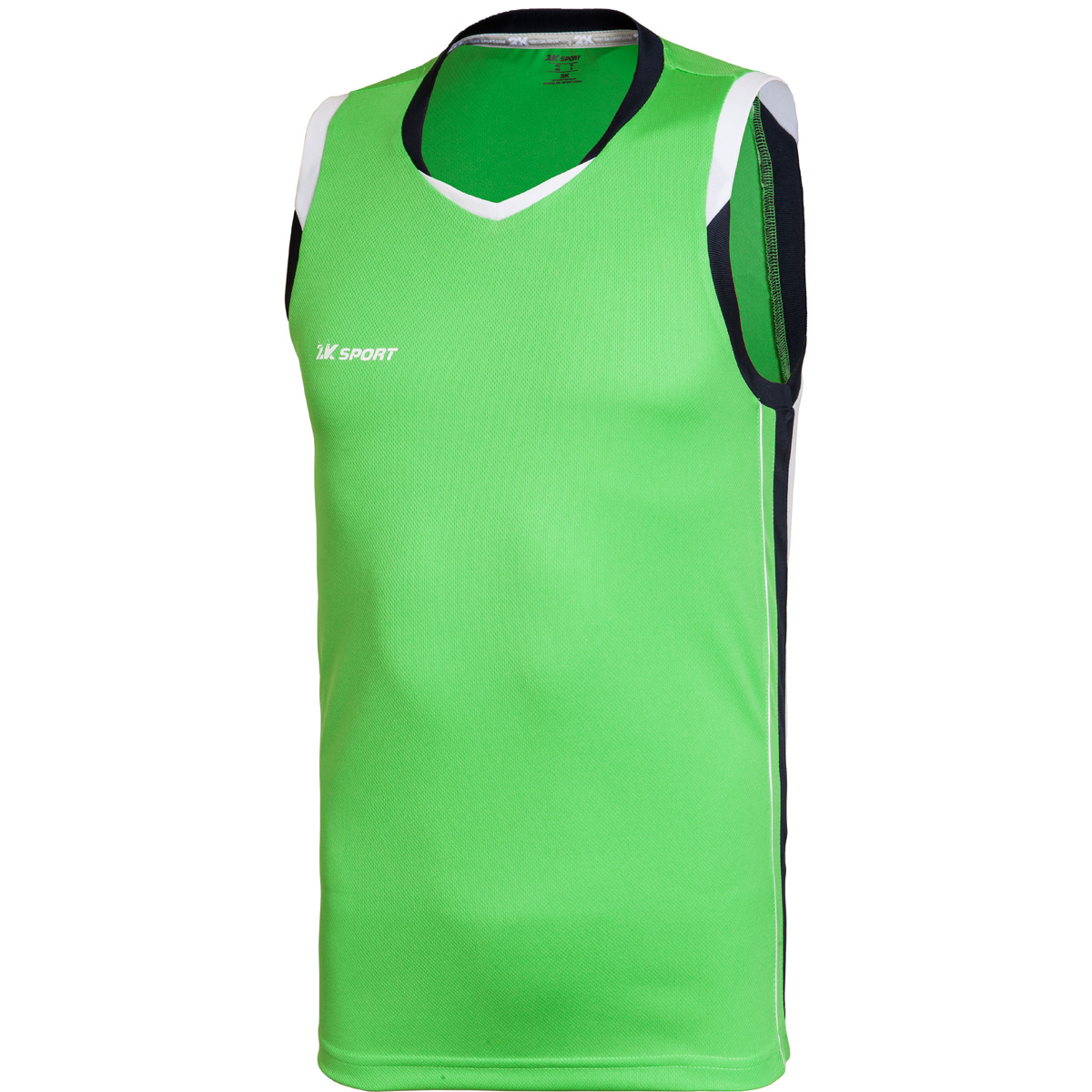 Майка баскетбольная мужская 2K Sport Advance, цвет: светло-зеленый, темно-синий, белый. 130030. Размер XXXL (56) - Баскетбол