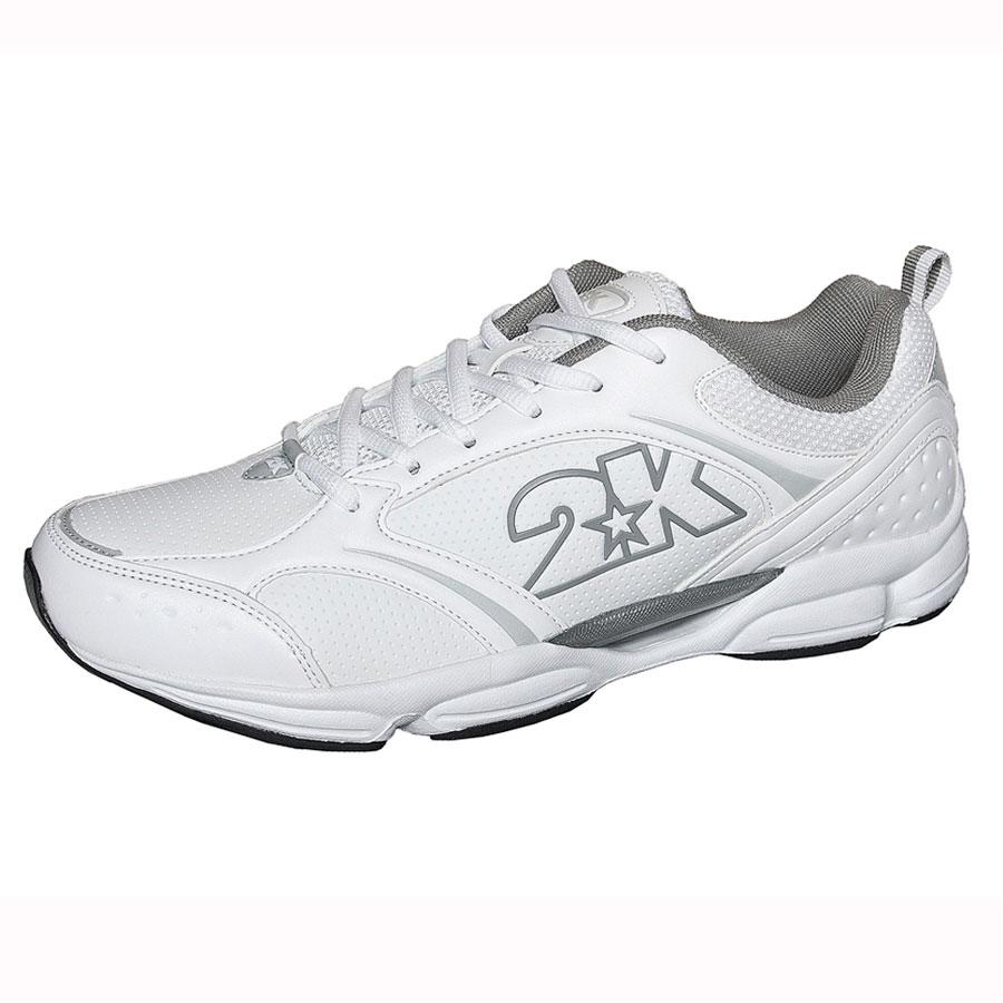 Кроссовки для бега 2K Sport Corso, цвет: белый, серый. 115018. Размер 40