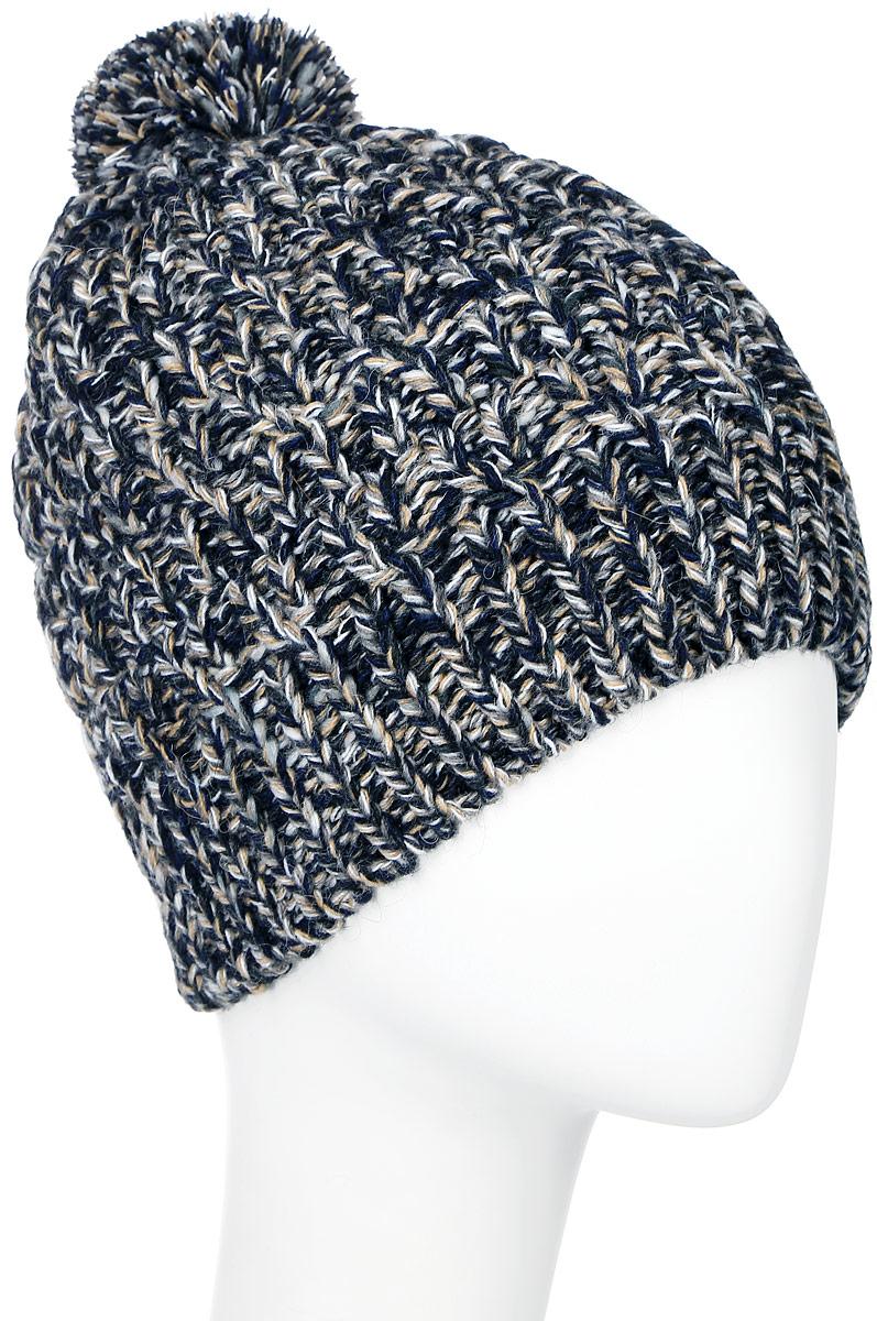 Шапка мужская Marhatter, цвет: бежево-синий. MYH7110/2. Размер 57/59MYH7110/2Теплая мужская шапка Marhatter отлично дополнит ваш образ в холодную погоду. Сочетание шерсти и акриламаксимально сохраняет тепло и обеспечивает удобную посадку, невероятную легкость и мягкость. Подкладка выполнена из мягкого флиса.Шапка двойная без отворота по краю связана резинкой и оформлена контрастным принтом. На макушке оформлен небольшой пушистый помпон и спереди изделие дополнено нашивкой с названием бренда. Незаменимая вещь на прохладную погоду. Модель составит идеальный комплект с модной верхней одеждой, в ней вам будет уютно и тепло.Уважаемые клиенты!Размер, доступный для заказа, является обхватом головы.