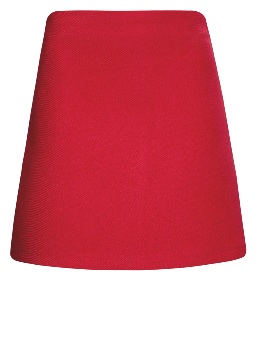 Юбка oodji Ultra, цвет: красный. 11600413-2/43703/4500N. Размер 42 (48-170) цена 2016