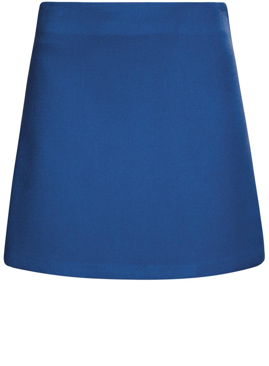 Юбка oodji Ultra, цвет: синий. 11600413-2/43703/7500N. Размер 40 (46-170) цена 2016