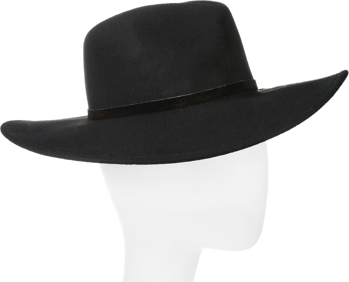 Шляпа Goorin Brothers, цвет: черный. 100-6342. Размер L (59)100-6342Элегантная шляпа Queen of Knives от Goorin Brothers, выполненная из фетра, дополнит любой образ. Модель с невысокой тульей с продольными заломами и слегка загнутыми вверх полями. Внутри модель дополнена плотной тесьмой для комфортной посадки изделия по голове. Шляпа по тулье оформлена кожаной узкой тесьмой и дополнена металлическим элементом в виде логотипа бренда.Такая шляпа подчеркнет вашу неповторимость и прекрасный вкус.