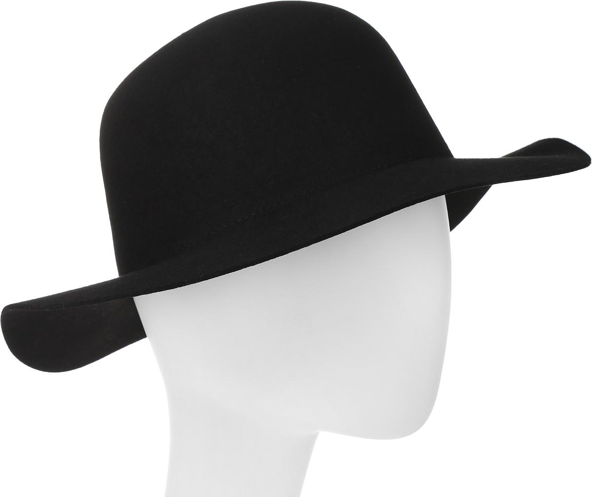 Шляпа Goorin Brothers, цвет: черный. 100-9697. Размер M (57)100-9697Элегантная шляпа Goorin Brothers, выполненная из шерстяного фетра, дополнит любой образ. Модель с конструкцией тульи open crown и прямыми полями. Особенность такой шляпы в том, что Вы можете сформировать продольную вмятину на тулье и защипы по её бокам собственноручно - эластичный фетр легко поддаётся корректировке пальцами.Такая шляпа подчеркнет вашу неповторимость и прекрасный вкус. За счёт своей свободной конструкции модель большемерит.