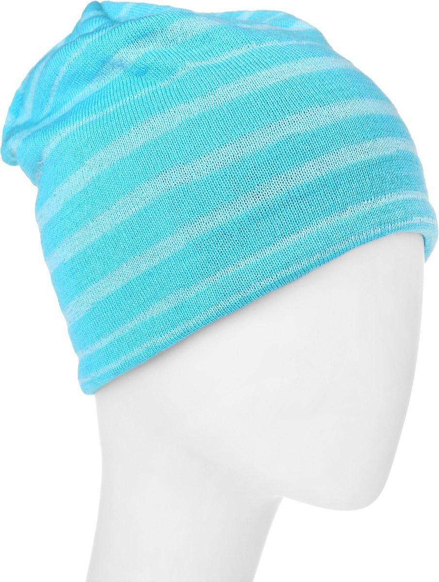 Шапка детская Reima Fuchs, цвет: голубой. 538023-7250. Размер 58538023-7250Комфортная детская шапка Reima Fuchs идеально подойдет для прогулок в прохладное время года и защитит вашего ребенка от ветра. Шапочка изготовлена из шерсти и акрила. Внутри - флисовая подкладка. Модель оформлена интересным принтом в полоску. Сбоку шапка дополнена нашивкой с названием бренда. В такой шапке ваш ребенок будет чувствовать себя уютно и комфортно и всегда будет в центре внимания! Уважаемые клиенты!Размер, доступный для заказа, является обхватом головы ребенка.